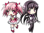 Madoka and Homura - PMMM