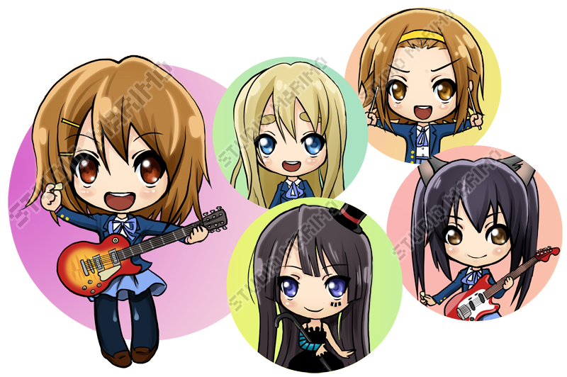 K-On buttons by studiomarimo