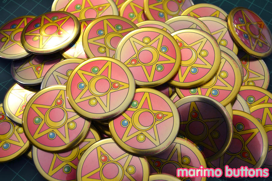 Sailor Moon Locket buttons by studiomarimo