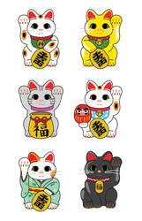 Maneki Neko - Lucky Cat by studiomarimo