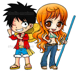 Luffy and Nami - ONE PIECE