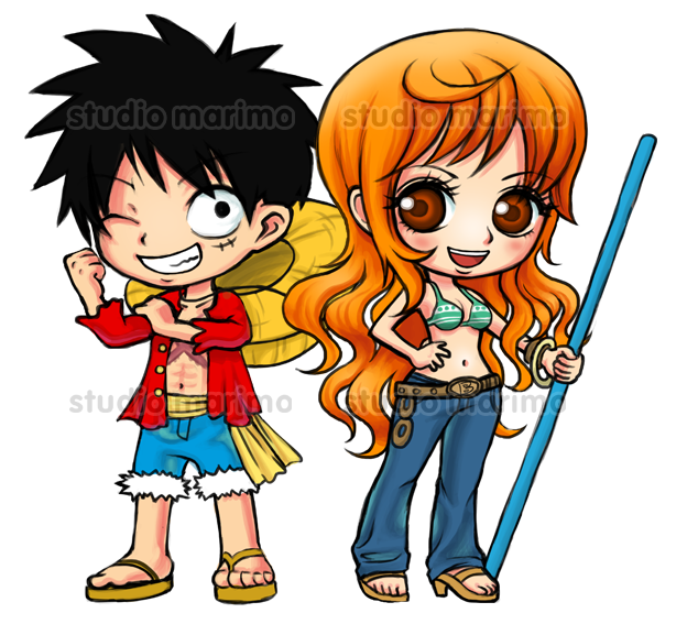 Luffy and nami one piece by studiomarimo on deviantart luffy and nami one piece by studiomarimo publicscrutiny Image collections