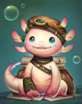 axolotl adventerer! (Character Design Challenge!)