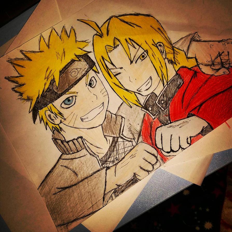 Naruto Uzumaki y Edward Elric  by Aelita222