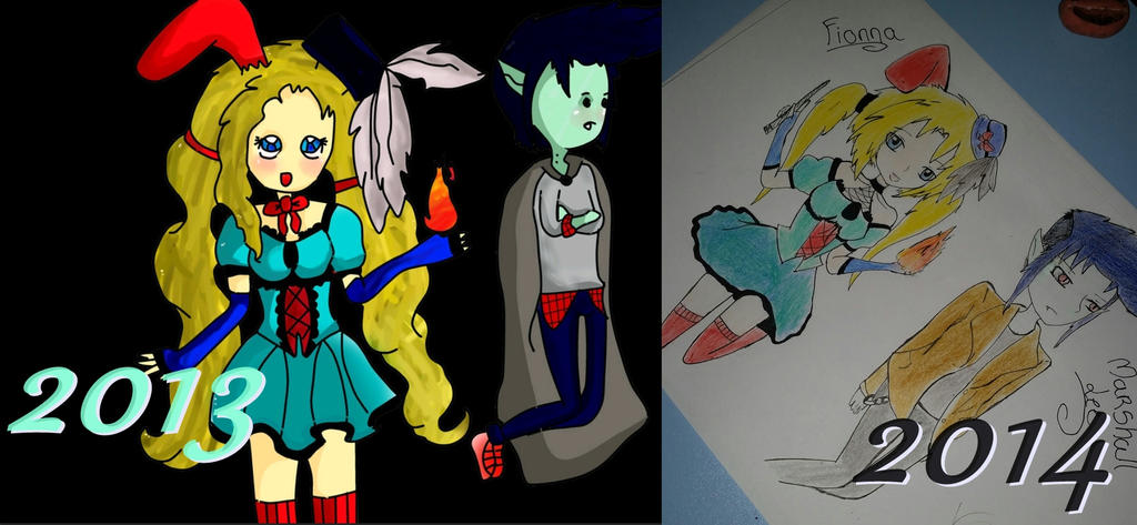 Fionna y Marshall Lee 2013-2014 by Aelita222