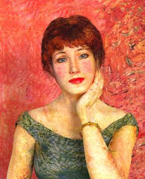 Portrait de l'actrice Jeanne Samary