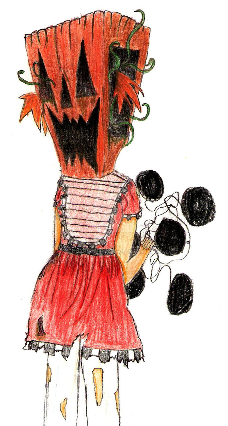 Pumpkin Girl IN COLOUR by ClassyNaru