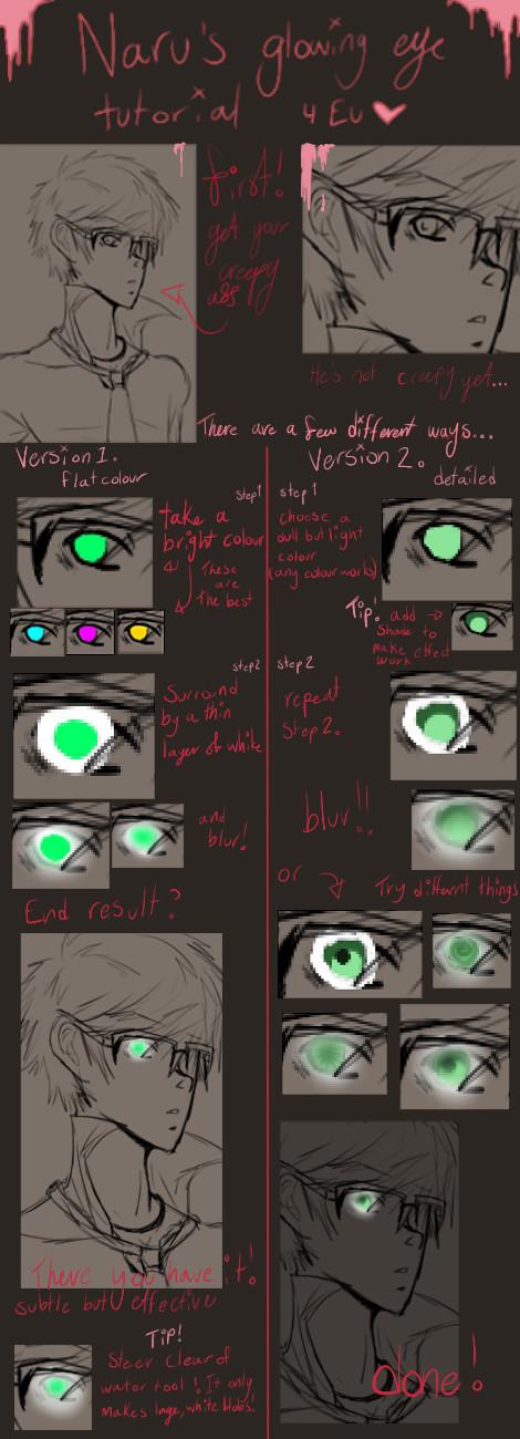 Glowing eyes tutorial by ClassyNaru