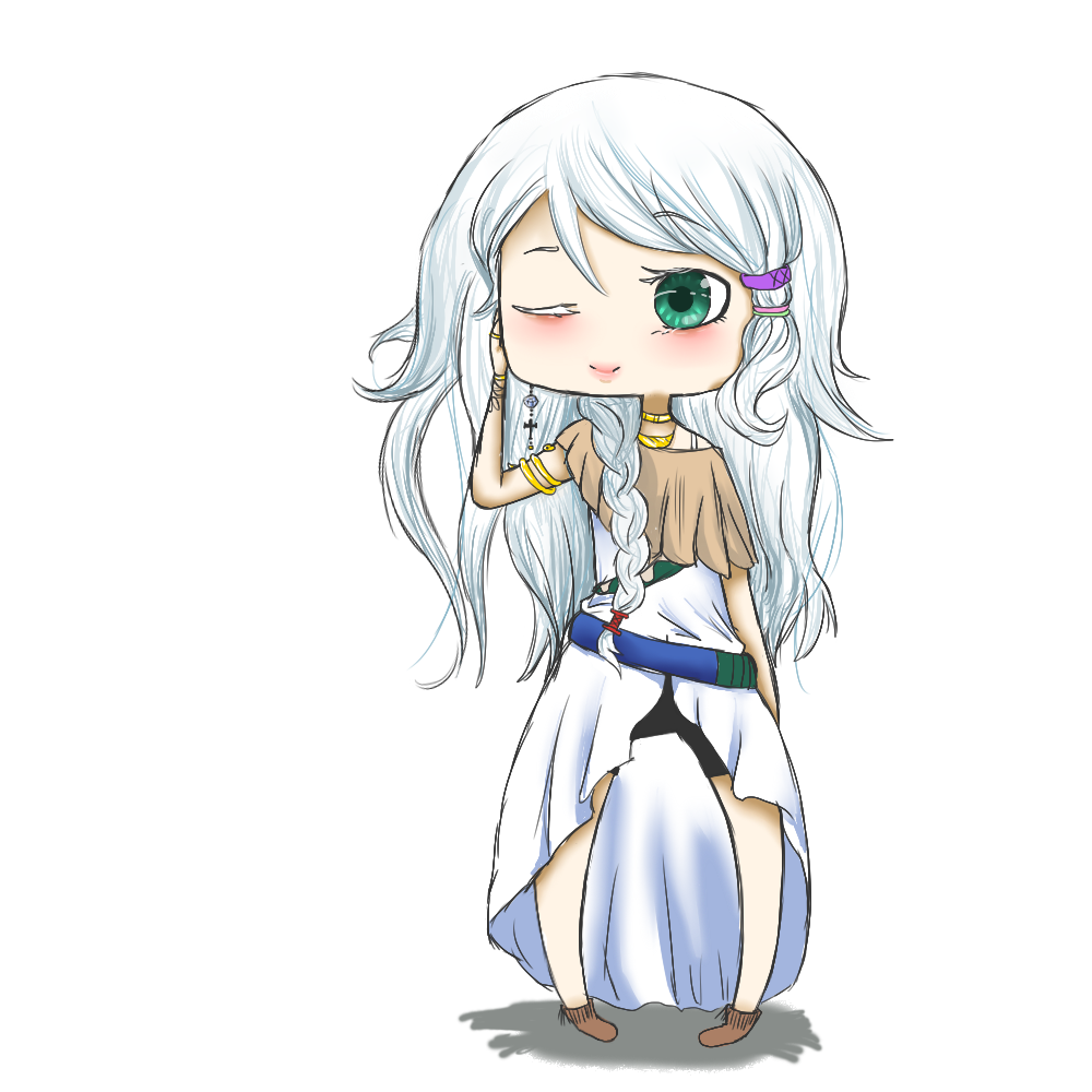 Commission: White Snake by ClassyNaru