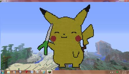 Made in Minecraft Pikachu
