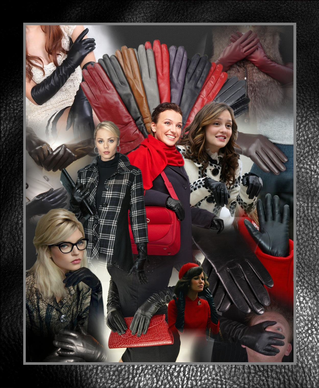 Ladies leather gloves large -  Ladies In Leather Gloves Poster 13 By Lordradim