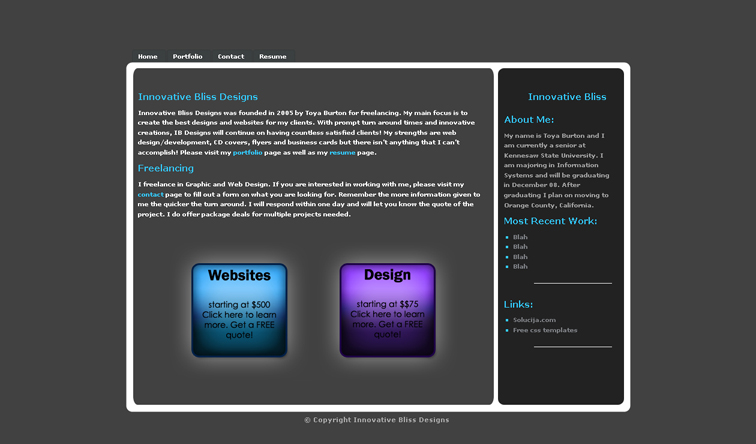 innovative bliss designs web by innovativebliss on deviantart