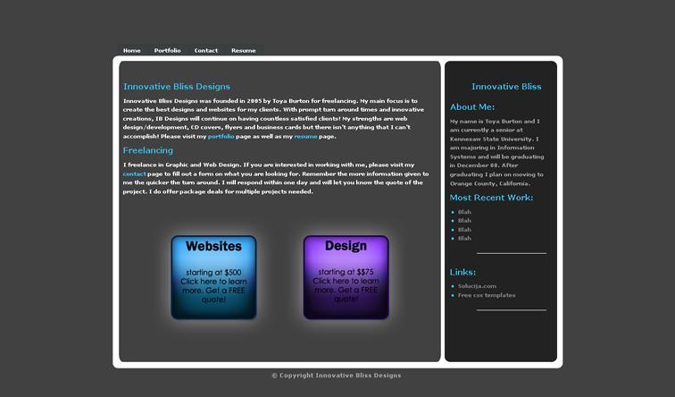 innovative bliss designs web by innovativebliss on deviantart