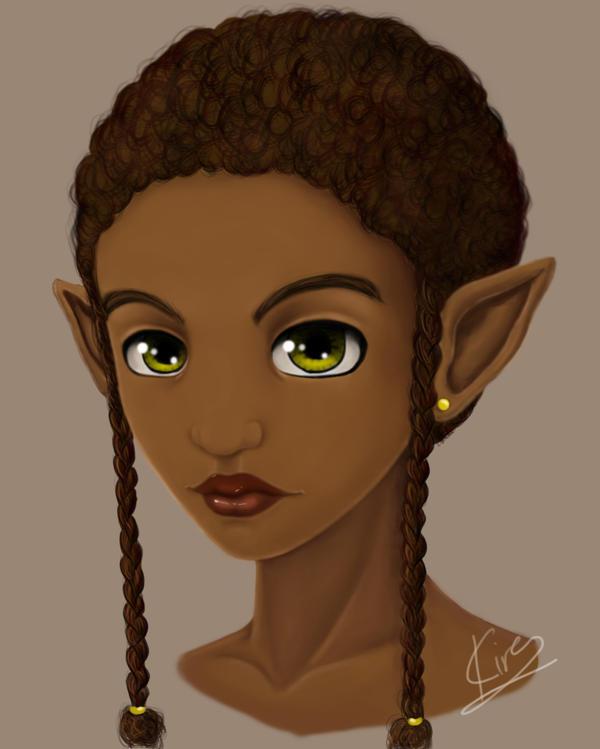 Elf Girl II by KiraTheArtist