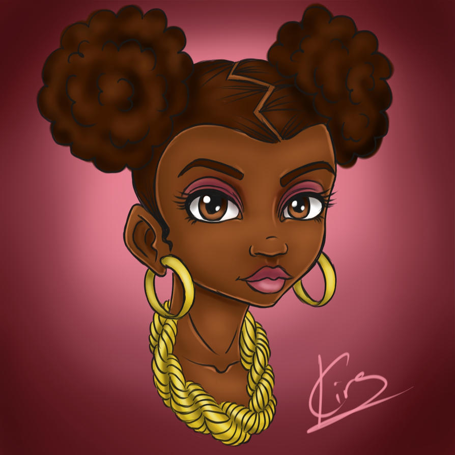 Afro Puffs by KiraTheArtist