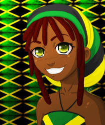 Black Anime girl by KiraTheArtist
