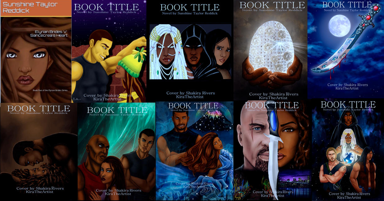 Sunshine Taylor Reddick Book Covers by KiraTheArtist