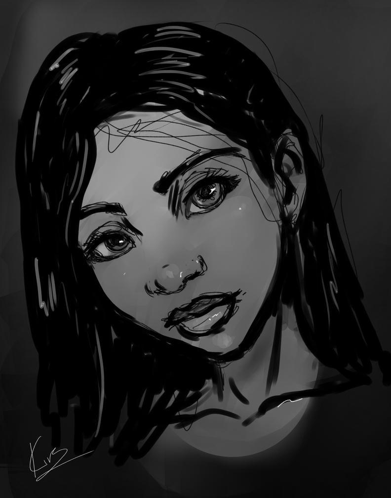 Girl Rough Sketch by KiraTheArtist