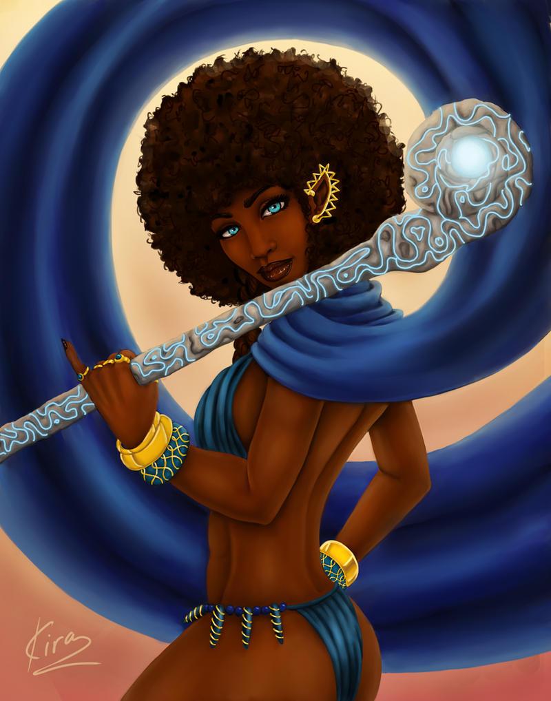 Elf Priestess Aziza by KiraTheArtist