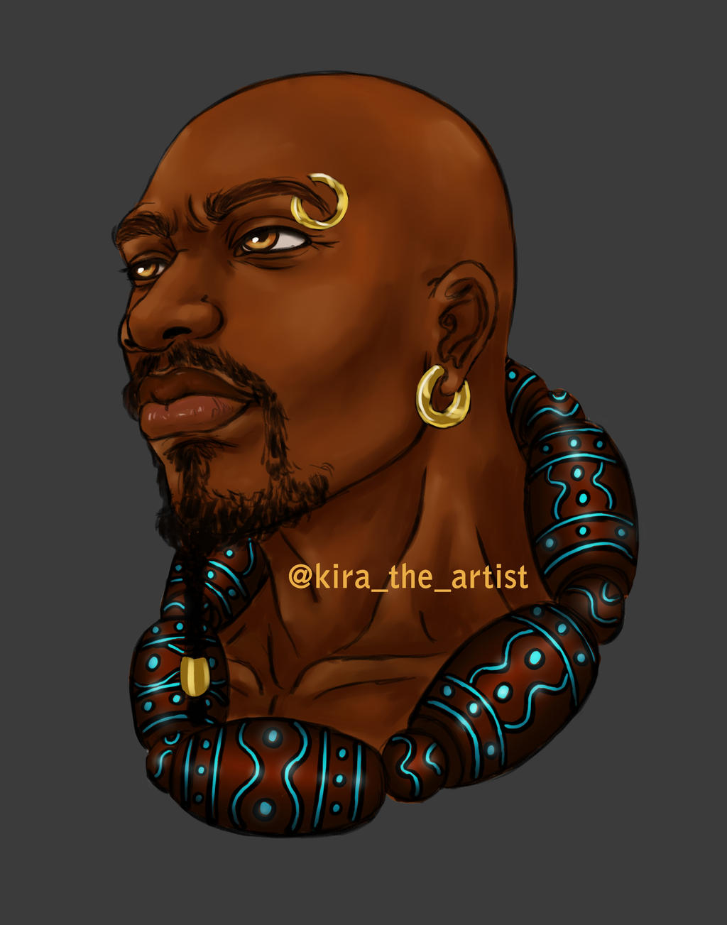 African warrior concept by KiraTheArtist