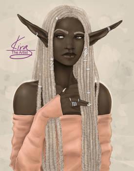 a gray locked elf
