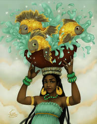 Fish Bowl by KiraTheArtist