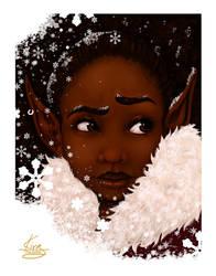 Elf In Winter