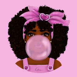 Bubble Gum Clean up by KiraTheArtist