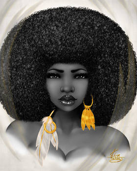 Afro and Feathers