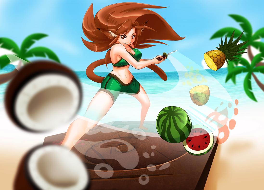 Fruit ninja 5 - Mixedmilkchocolate 226 90 Yuki The Fruit Ninja By Freelancemanga