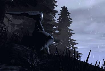 Resting Rain Drossel
