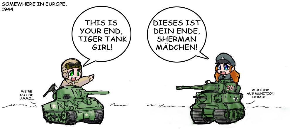 Tank Girls by freelancemanga