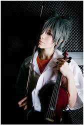 Kaworu with violin by Non-Smoking