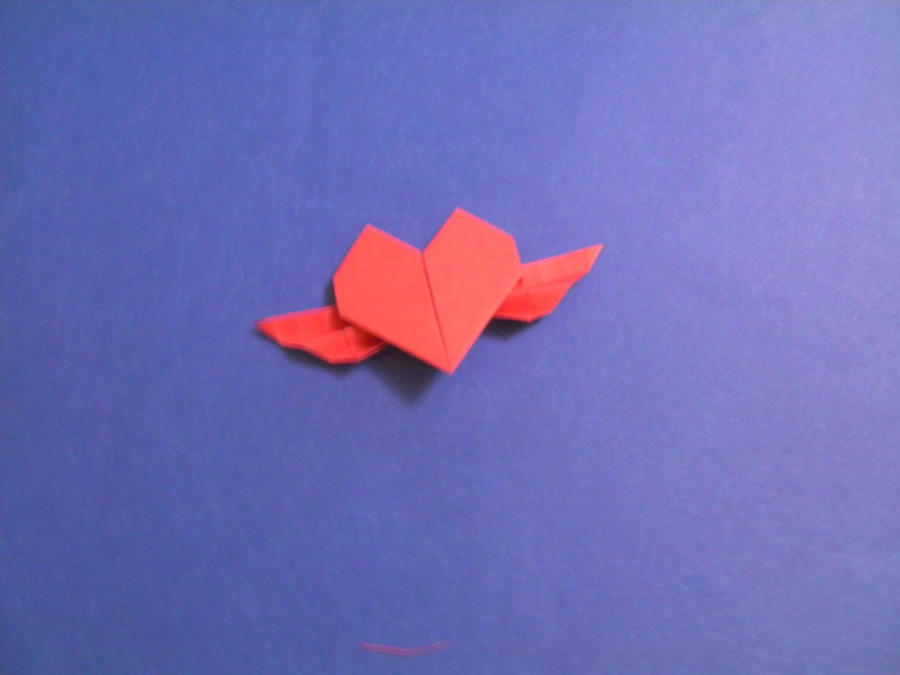 Origami Heart With Wings By Empapelarte On Deviantart