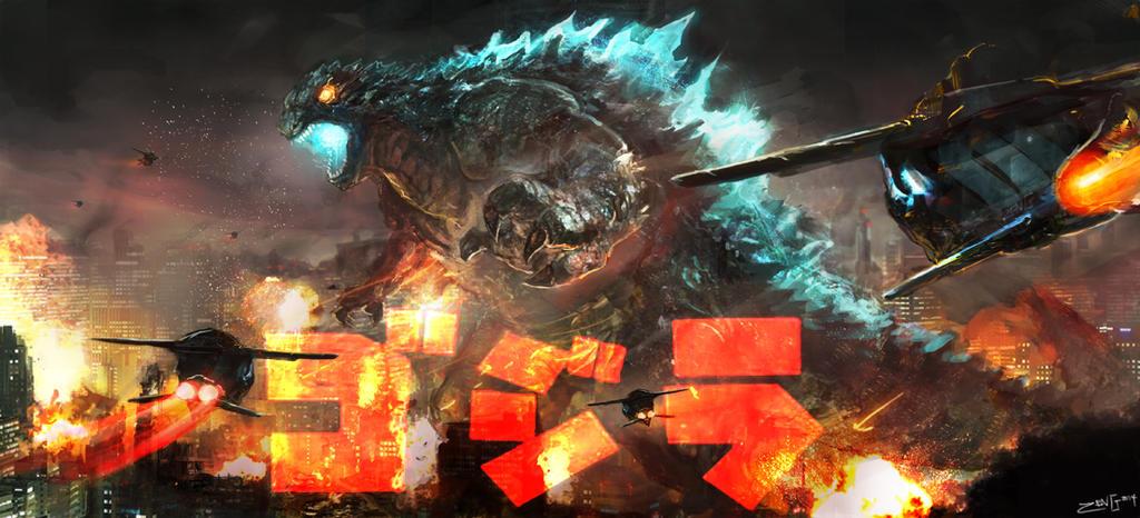Godzilla art by Zeng