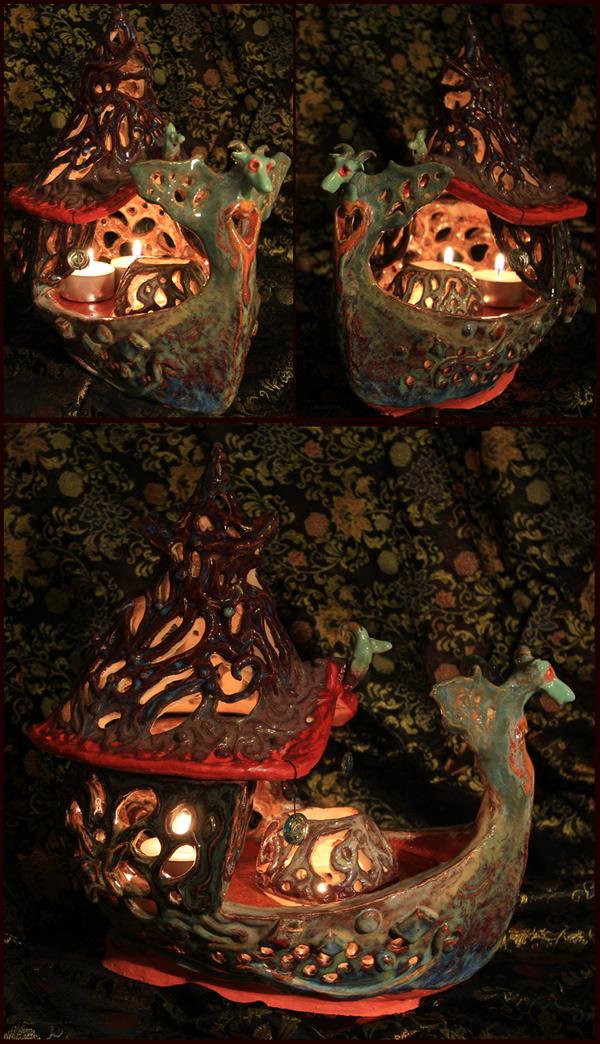Soul Boat Lantern by kundrys-inner-world