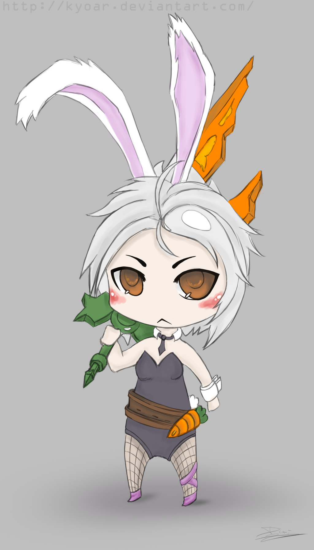 battle bunny riven chibi by kyoar watch fan art digital art drawings ...Bunny Riven Fan Art