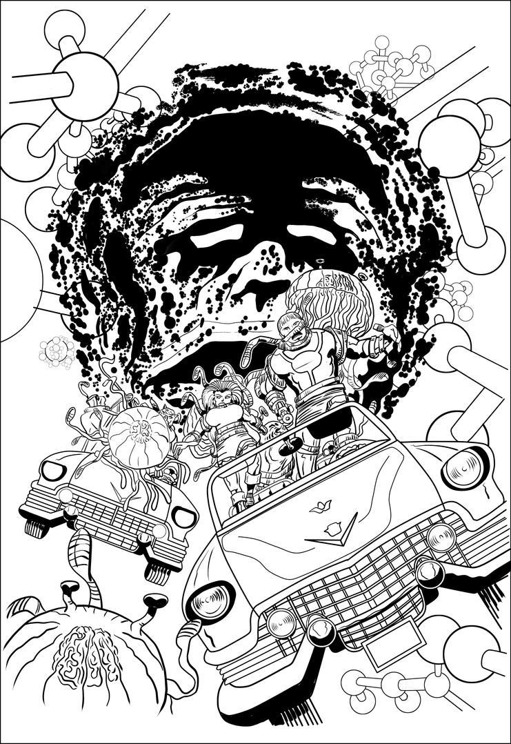 Nicky Tesla #4 cover Inkt by rikvanniedek