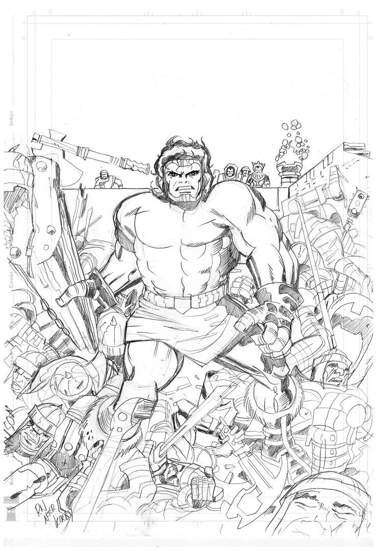 Samson 1 cover pencil by rikvanniedek