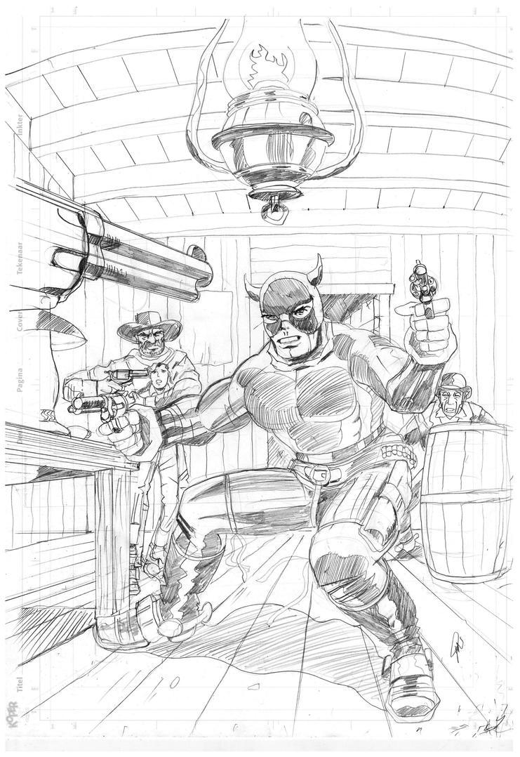 Black Bull cover sketch by rikvanniedek