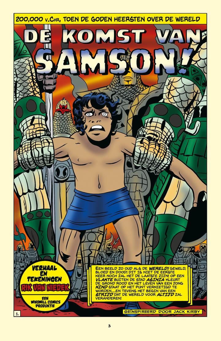 Samson# 1 pag 1 Color proof by rikvanniedek