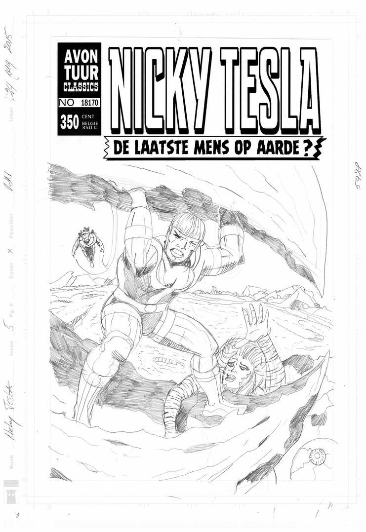 Cover Schets Nicky Tesla 5 by rikvanniedek