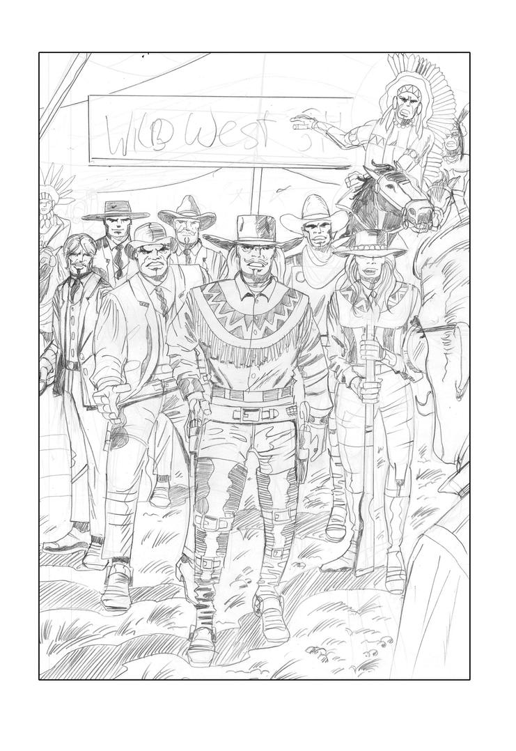 Pencils Rough Riders #1(Buffalo Bill in WW1) by rikvanniedek