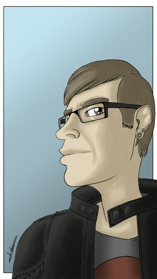 Cartoon selfie challenge  by sketchedmonkey