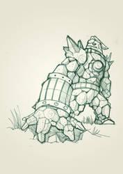 golem knight sketch