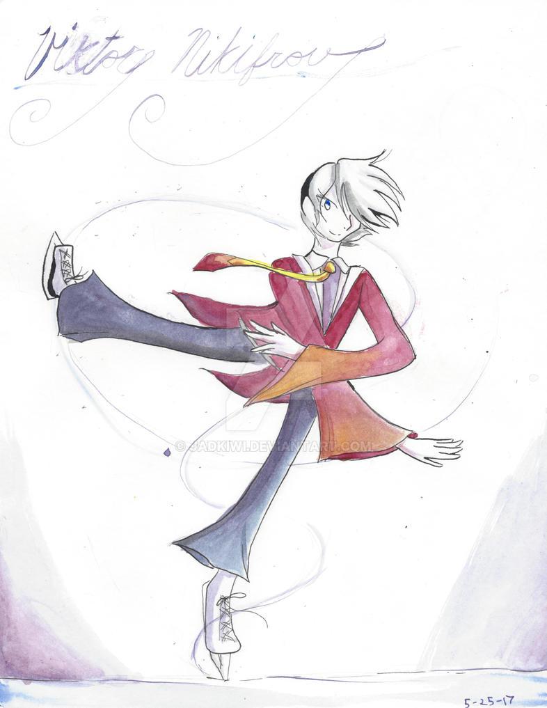 Viktor Nikiforov-Ice Skating by JADKiwi