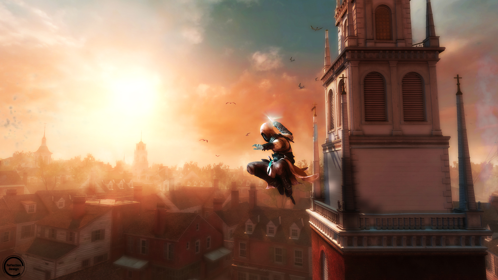 Assassin S Creed Jump Wallpaper By Reflectiondesignhd On Deviantart