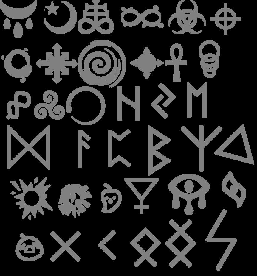 Binding Of Isaac Fantroll Symbols By Luigicat11 On DeviantArt