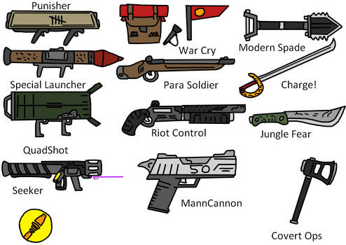 TF2 Soldier Weapons
