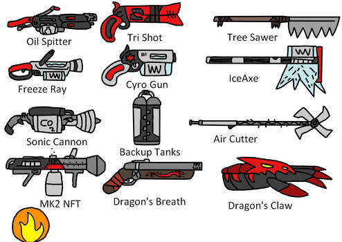 TF2 Pyro Weapons